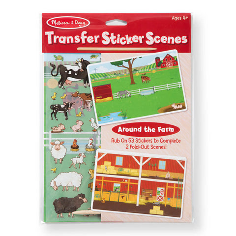 Melissa and Doug Around the Farm Transfer Sticker Scenes