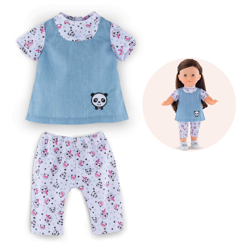 Corolle 36cm Panda Party Blouse & Leggings Set Ma Corolle