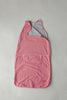 red and white merino wool and organic cotton baby sleeping bag
