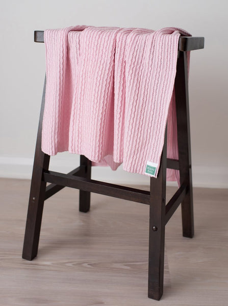 soft pink merino wool baby blanket made in new zealand
