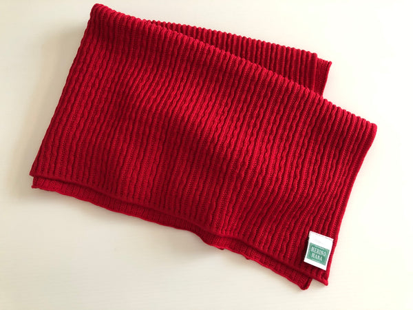 Cherry Red Merino Wool Baby Blanket