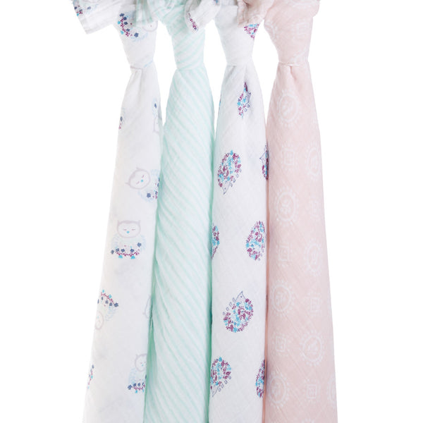 'Thistle' aden + anais swaddle four pack
