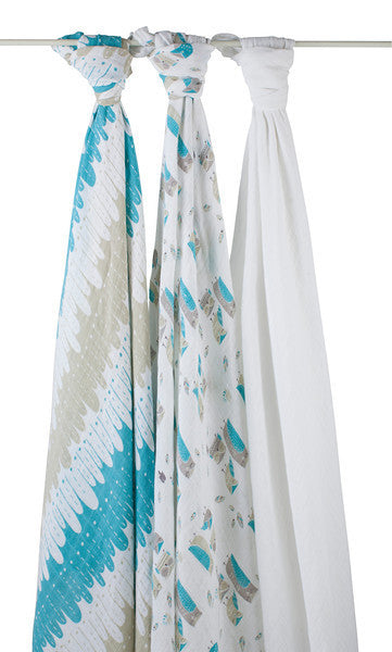 'Wise Guys' Organic Swaddles aden + anais