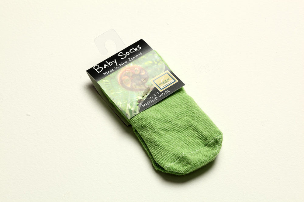 Merino Wool Baby Socks 'Apple' Made in New Zealand
