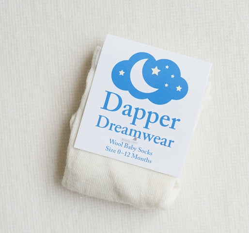 'Dapper Dreamwear' Wool Baby Socks 'Natural'