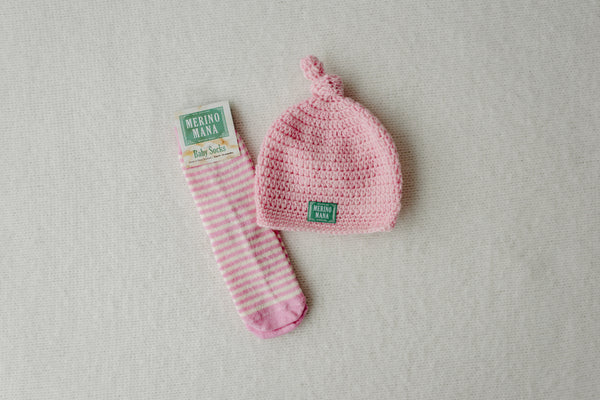 Cinderella Merino Wool Hat and Sock Set