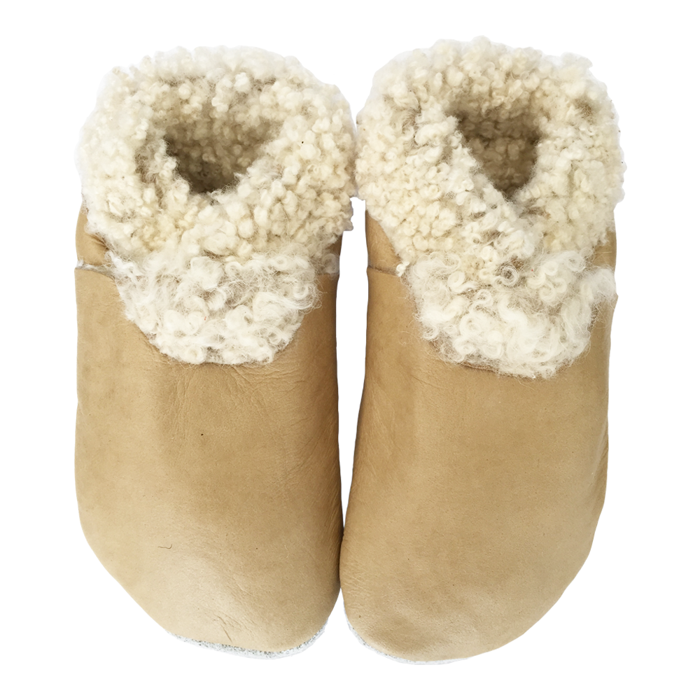 'Natural' Lambs Wool Booties - Pitter Patter