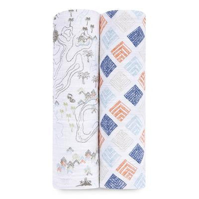 'Warrior Finn' Organic Swaddle 2 Pack aden + anais