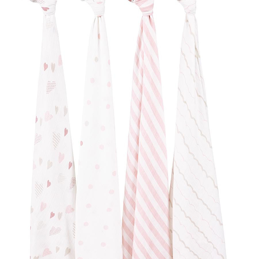 'Heart Breaker' Four Pack Swaddle aden + anais