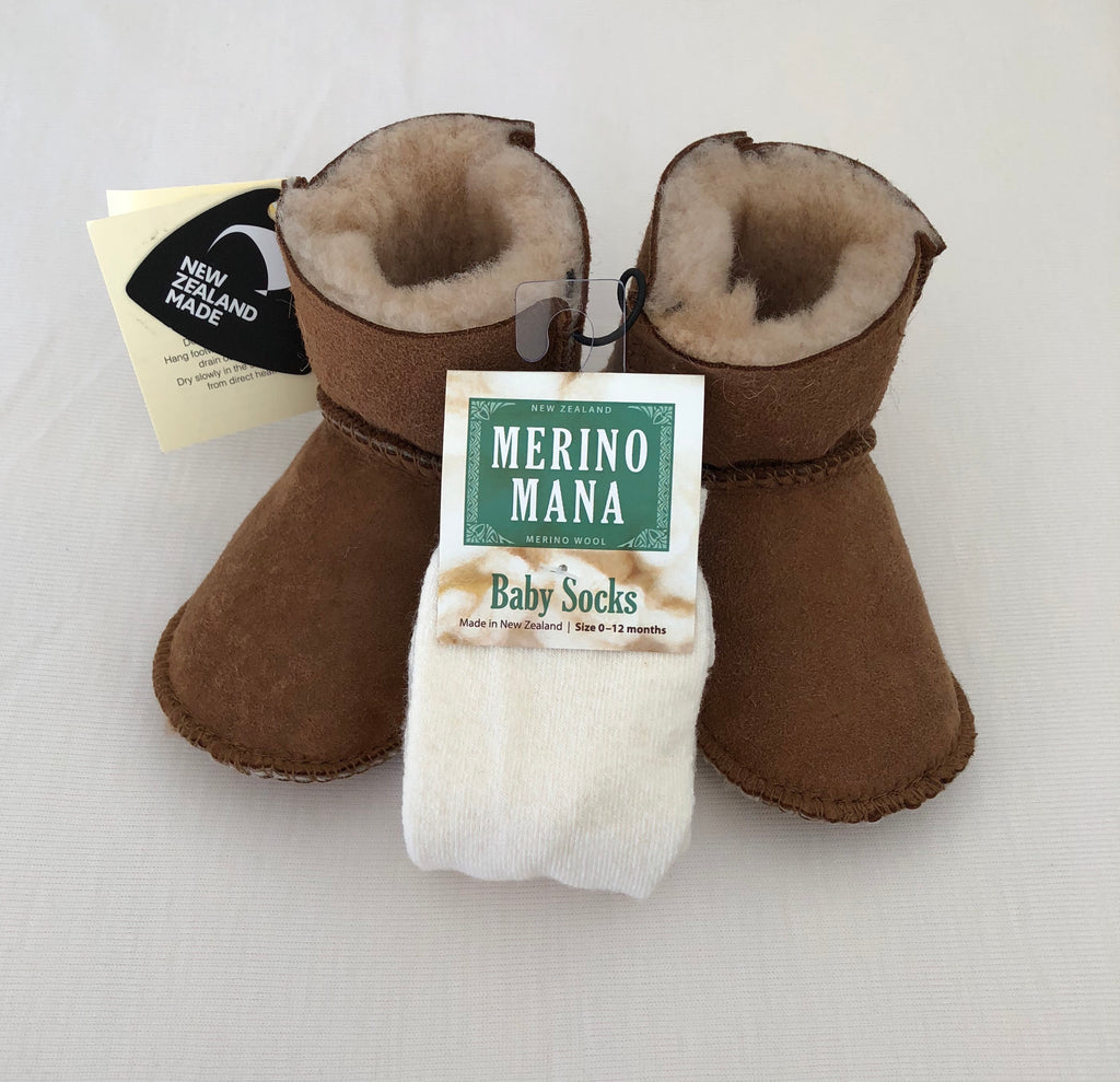 Sheepskin Booties and Merino Socks Deal