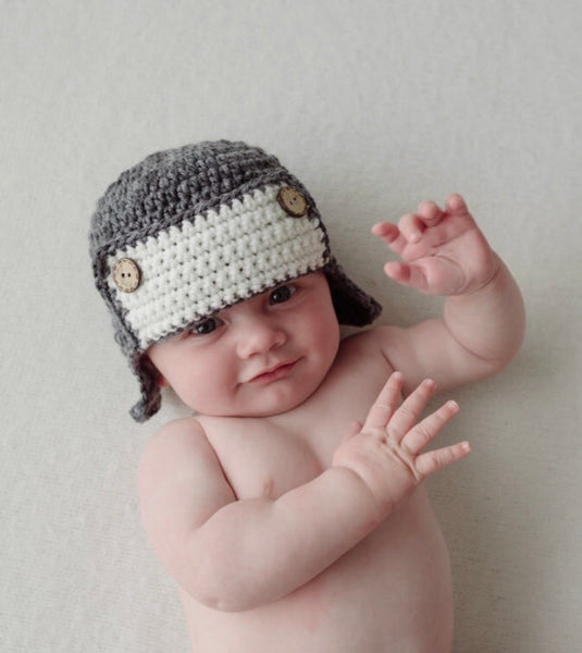 Crochet Aviator Baby Hat