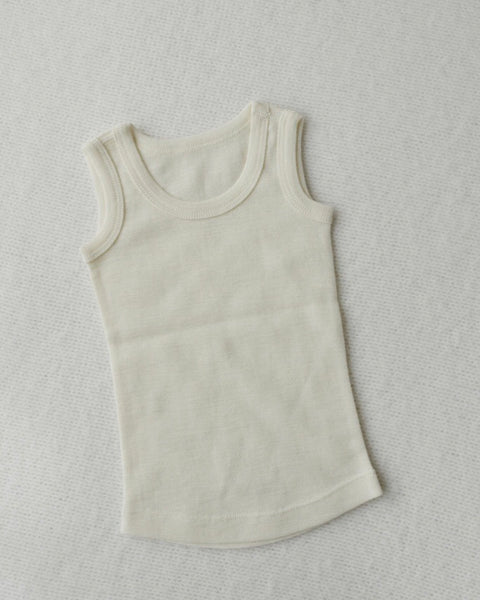 Merino wool baby singlet natural colour $18.95