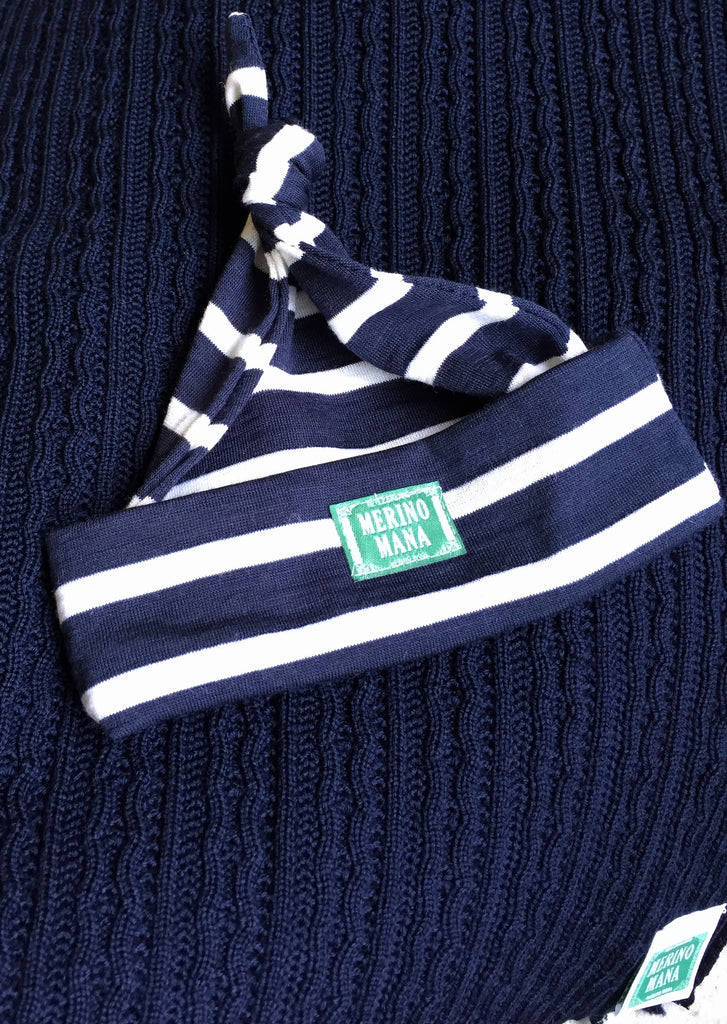 Pacific Blue Blanket and Navy Hat (wide)