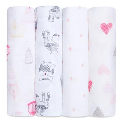 'Love Bird' Four Pack Swaddle aden + anais