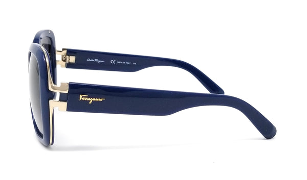Salvatore Ferragamo Sunglasses 781 414 Blue/Grey Blue Shade Oversized 56X15X135