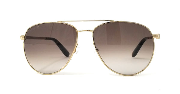 Salvatore Ferragamo Sunglasses SF157S 717 Shiny Gold Aviator Unisex