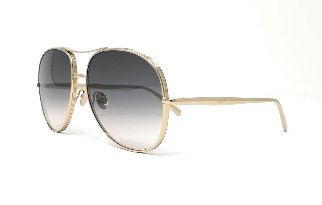 CHLOE Sunglasses CE127S 744 Light Gold/Grey Aviator 61x16x135