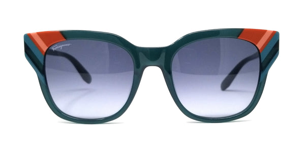 Salvatore Ferragamo Sunglasses SF875S 303 Opaline Green Rectangle Women's
