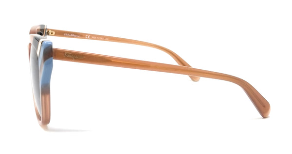 Salvatore Ferragamo Sunglasses SF875S 294 Opaline Nude Rectangle Women's