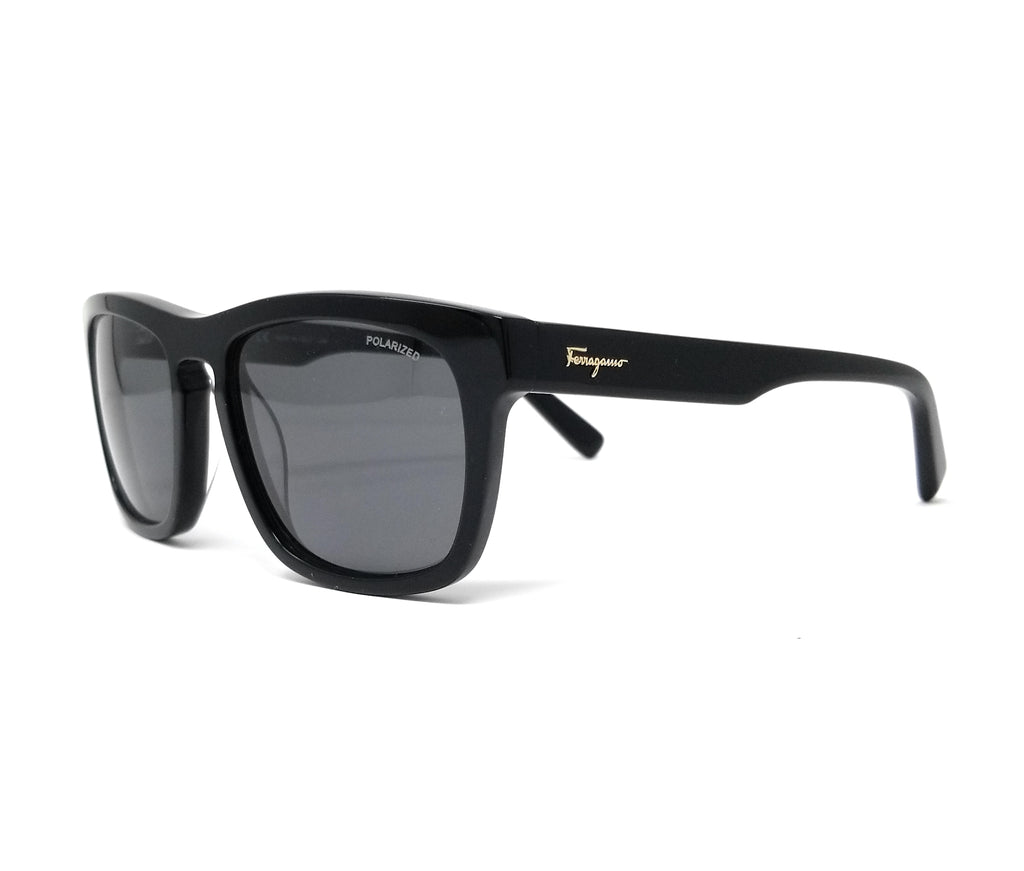 Salvatore Ferragamo Sunglasses SF789SP 001 Black Men's Polarized 55x19x145