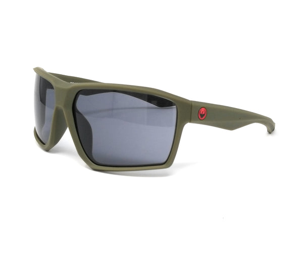 DRAGON Sunglasses TENZIG 318 Matte Olive Rectangle Men's 64x14x130