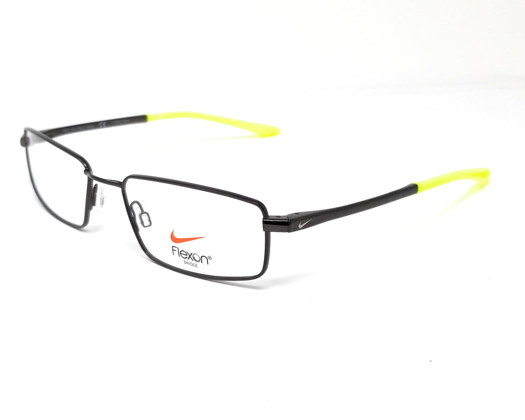 NIKE Eyeglasses 4282 004 Black-Volt Rectangle Men's 52x17x140