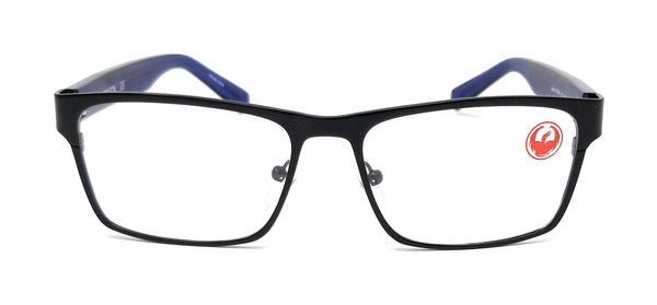 DRAGON Eyeglasses DR154 JACOB 016 Satin Black Rectangle Men's 53x16x145