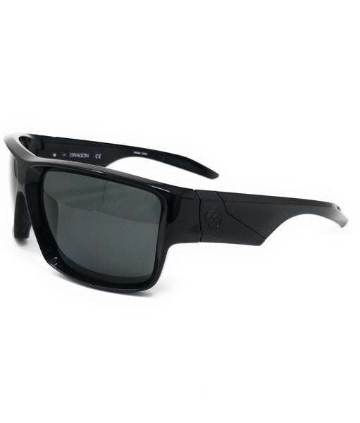 DRAGON Sunglasses DEADLOCK POLAR 001 Shiny Black Rectangle Men's 61x15x125
