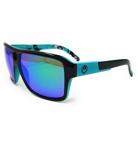 DRAGON Sunglasses THE JAM 3 032 Jet Teal Square Unisex 69x10x140