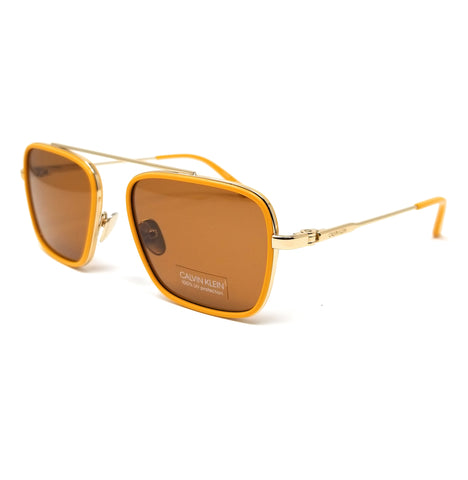 CALVIN KLEIN Sunglasses CK18102S 701 Maize Square Men's 55x18x140