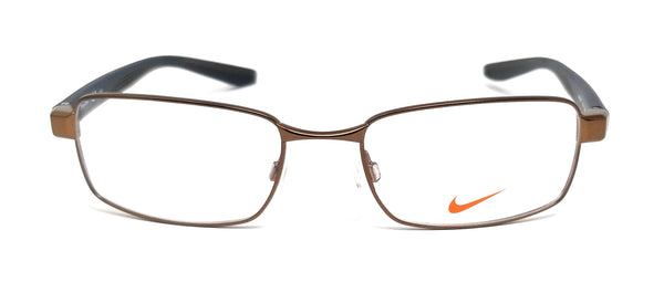 NIKE Eyeglasses 8175 210 Satin Brown Square Men's 53x18x140