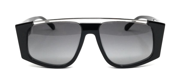 MCM Sunglasses MCM670S 001 Black Modified Rectangle Unisex 55x16x145
