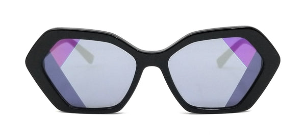 MCM Sunglasses MCM680S 001 Black Modified Rectangle Women 59x17x140