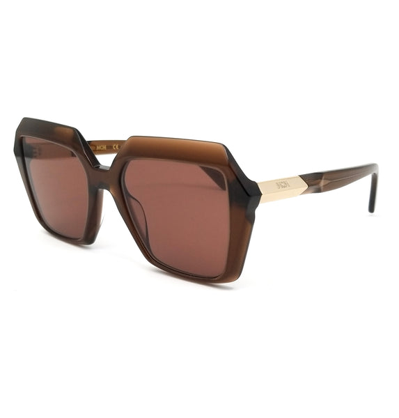 MCM Sunglasses MCM661S 210 Brown Square Women 53x19x140