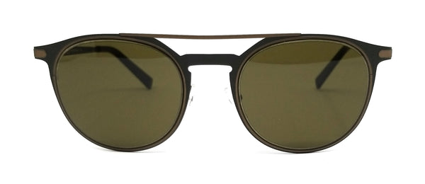 Salvatore Ferragamo Sunglasses SF186S 328 Matte Olive Green Round Men 52x21x145
