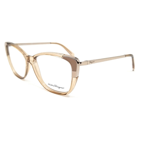 Salvatore Ferragamo Eyeglasses SF2811 743 Crystal Peach Women 54x14x140