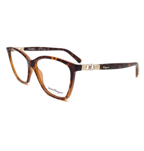Salvatore Ferragamo Eyeglasses SF2814 214 Tortoise Rectangle Women 55x14x140