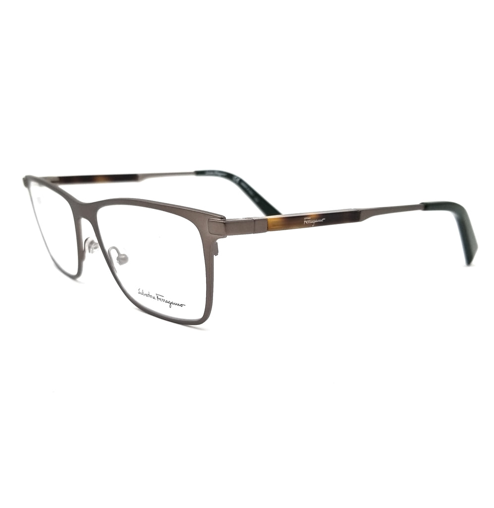 Salvatore Ferragamo Eyeglasses SF2165 200 Matte Brown Rectangle Men 52x16x145