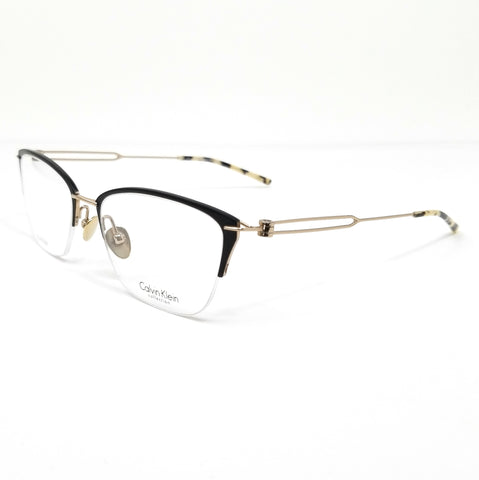Calvin Klein Collection Eyeglasses CK8065 007 Matte Black-Gold Women 52x18x135