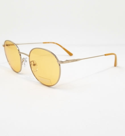 CALVIN KLEIN Sunglasses CK18104S 717 Gold Round Men 49x20x140