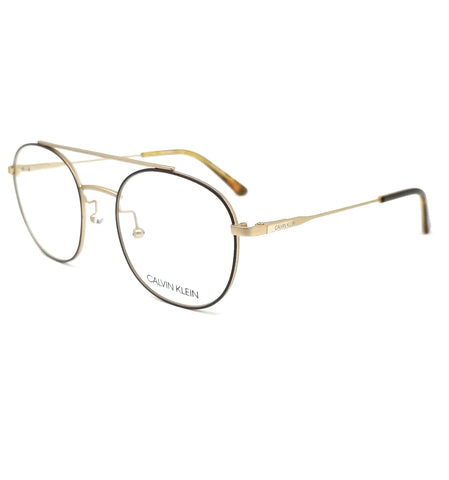 CALVIN KLEIN Eyeglasses CK18123 200 Satin Brown Round Men 50x19x140