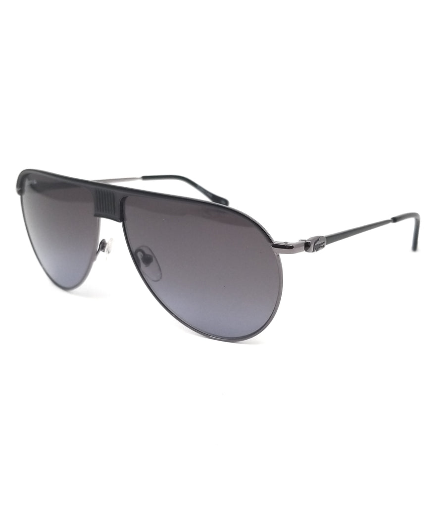 LACOSTE Sunglasses L200S 001 Dark Ruthenium-Black Aviator Men 62x12x140