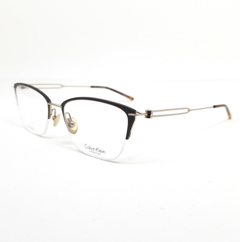 Calvin Klein Collection Eyeglasses CK8065 223 Matte Brown-Gold Women 52x18x135