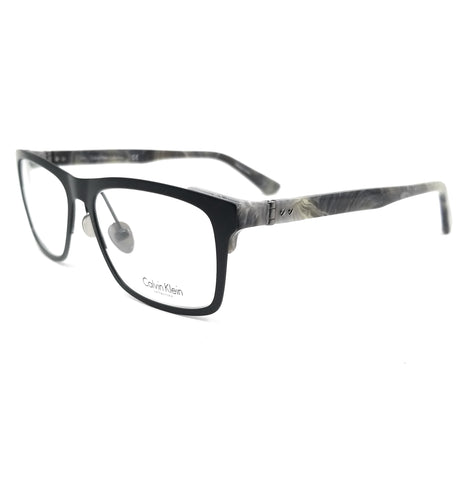 Calvin Klein Collection Eyeglasses CK8025 001 Black Rectangle Men 52x17x140