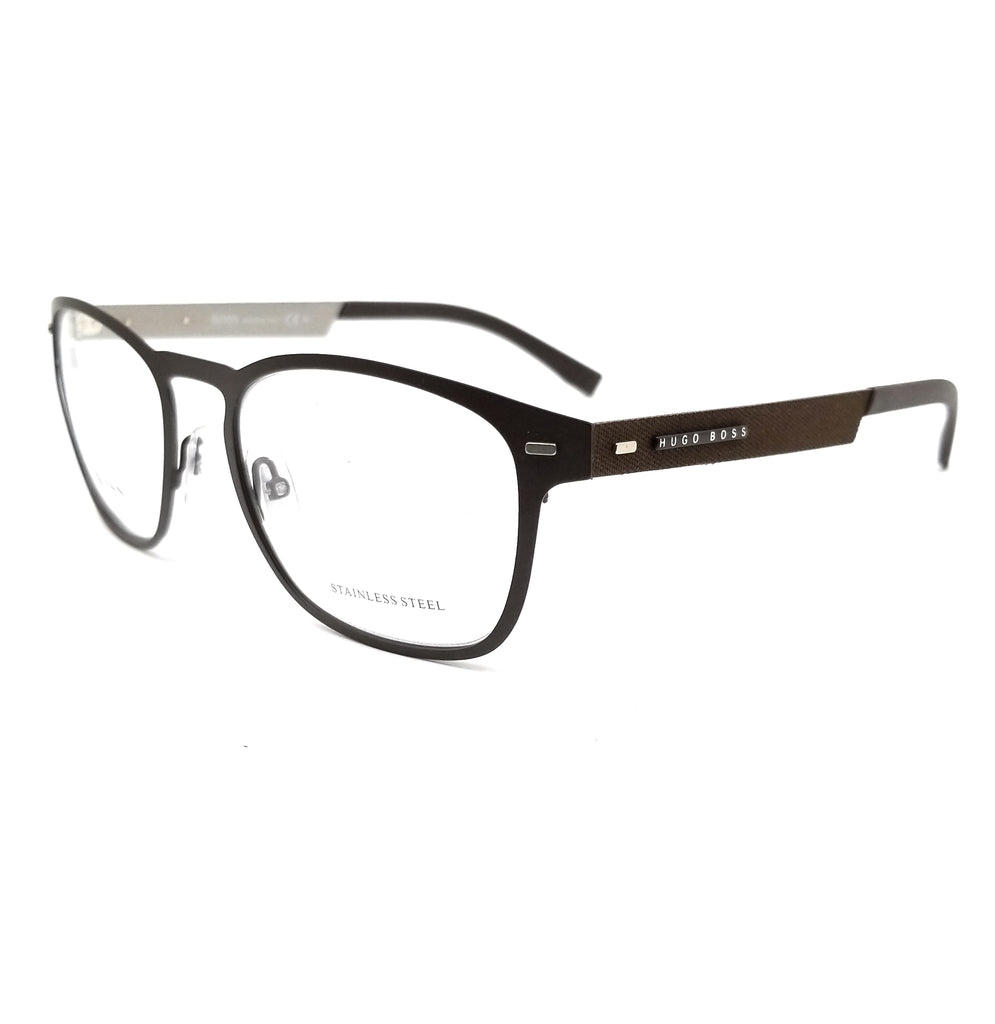 BOSS by Hugo Boss Eyeglasses 0935 4IN Matte Brown Men 53x19x150