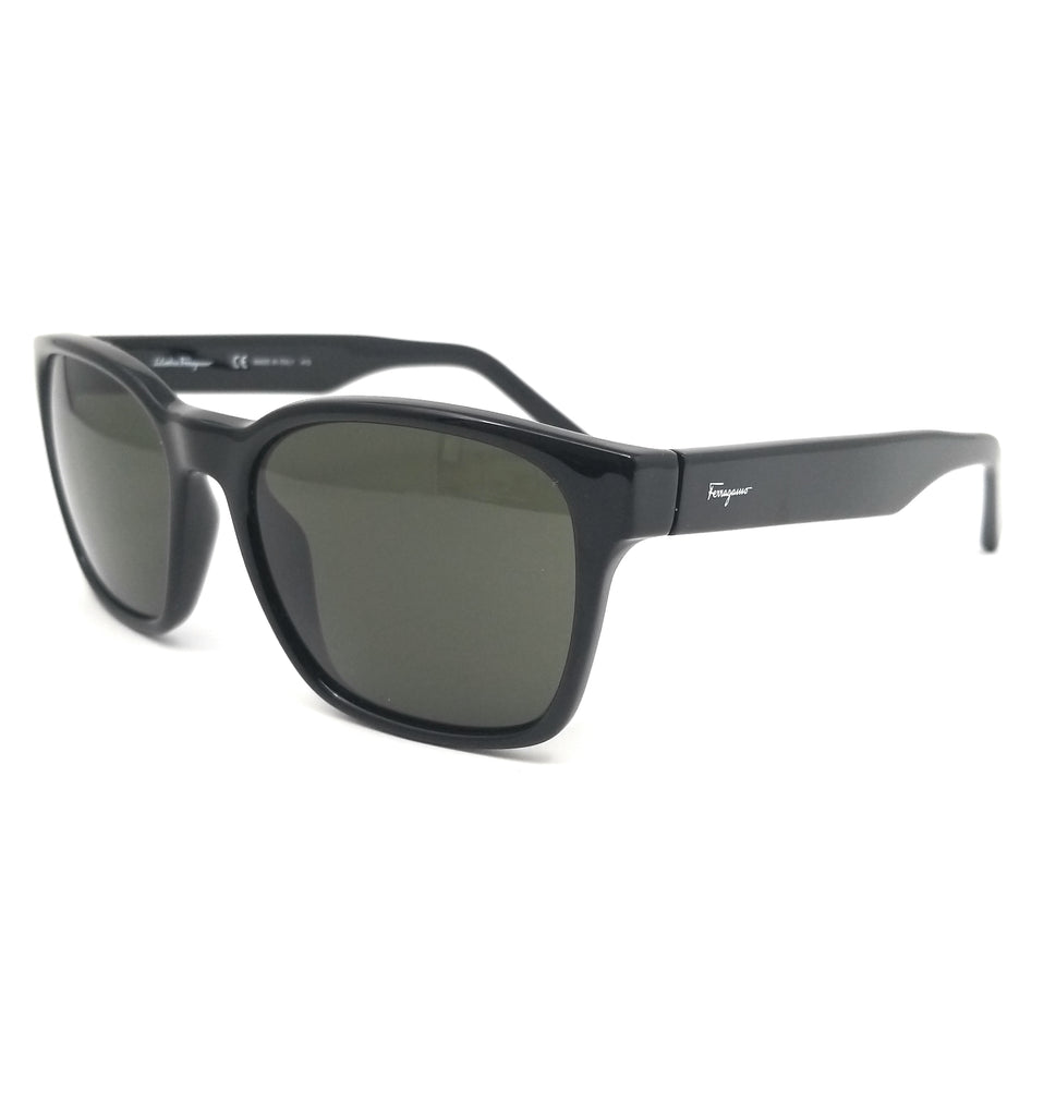 Salvatore Ferragamo Sunglasses SF959S 001 Black Square Unisex 55x18x140