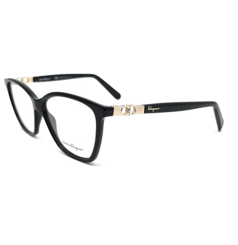 Salvatore Ferragamo Eyeglasses SF2814 001 Black Rectangle Women 55x14x140