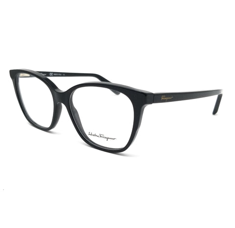 Salvatore Ferragamo Eyeglasses SF2817 001 Black Rectangle Women 52x15x140