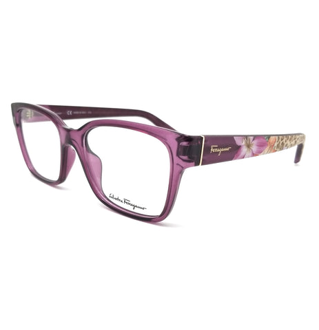 Salvatore Ferragamo Eyeglasses SF2778 500 Crystal Violet Rectangle Women 53x17