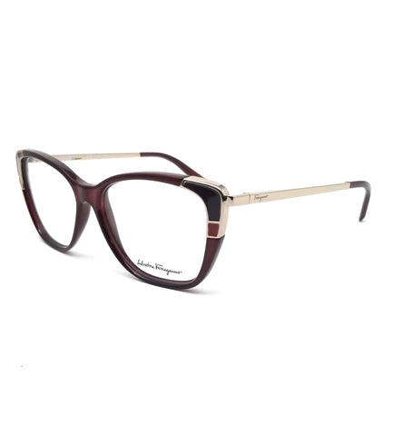 Salvatore Ferragamo Eyeglasses SF2811 606 Wine Rectangle Women 54x14x140